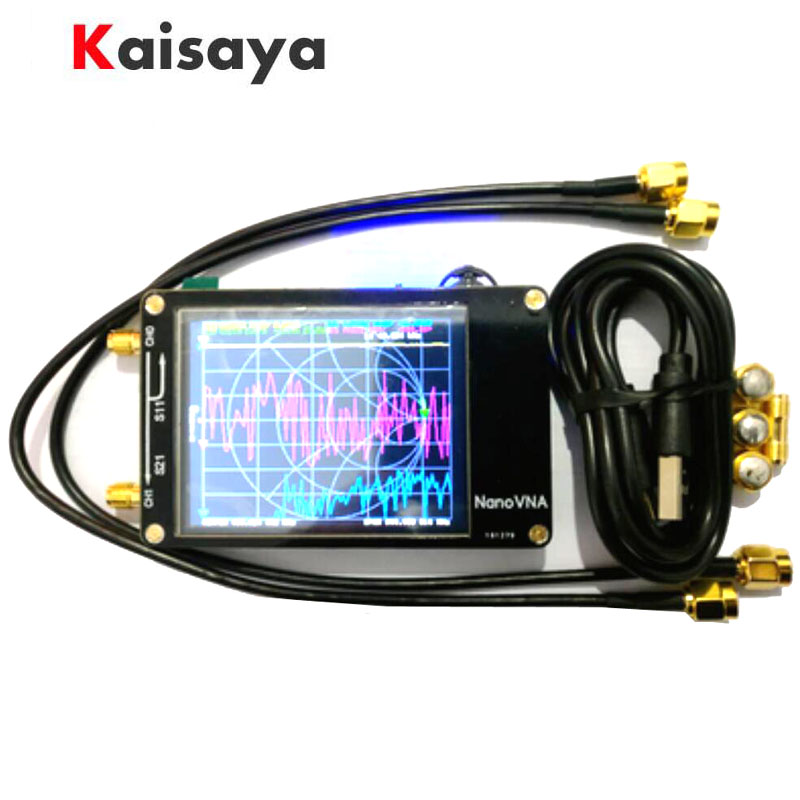 Analisador de rede uv 50 khz-2.8 mhz da antena do vetor do hf vhf do lcd do toque novo de nanovna 300 polegadas com bateria A5-020