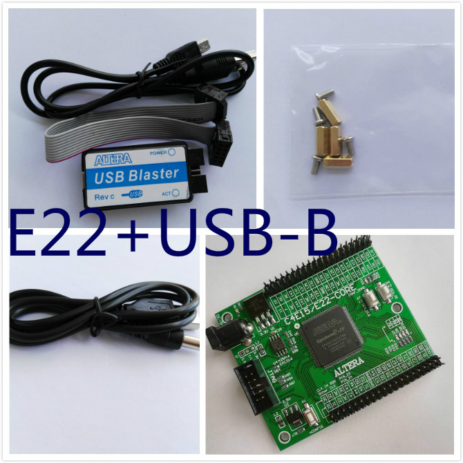 fpga development board EP4CE22E22C8N board altera fpga board altera board + USB Blaster module usb blaster v2 download cable altera fpga cpld usb blaster programmer debugger for altera cyclone from waveshare freeship