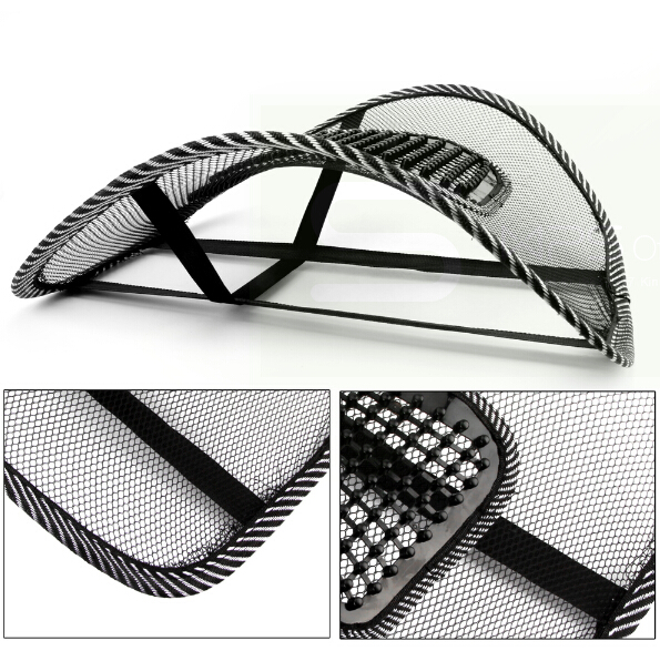 Car Seat Black Lumbar Support Mesh Ventilate Cushion Pad Chair Back Massage Mat for Office Car seat home and truck chairs недорого