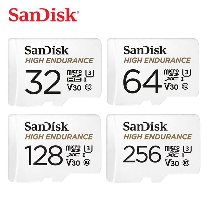SanDisk HIGH ENDURANCE micro SD Card 32GB 64GB MicroSD Memory Card 128gb 256gb Class 10 U3 V30 Micro SDHC/SDXC Flash Card 4K HD