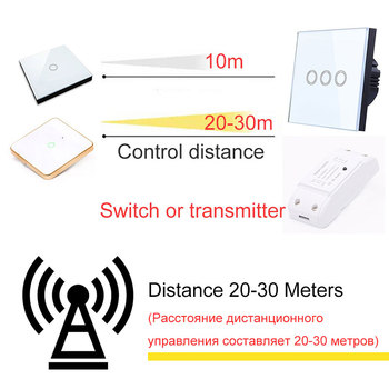 Wireless Sensor Remote Control RF 433 Mhz 220V Switch Learning Code