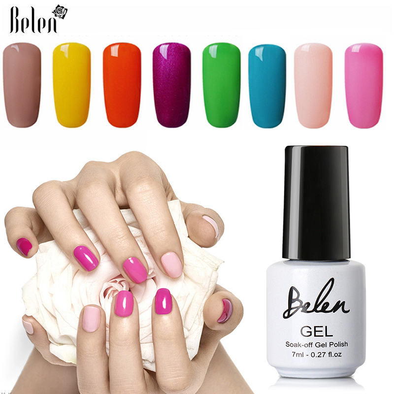 Belen 79 färger UV nagelgel Polsk Soak off Gel 7ml DIY Nagellack Gel Nagellack UV LED Lampa Lak Lak Nagel Gelpolish