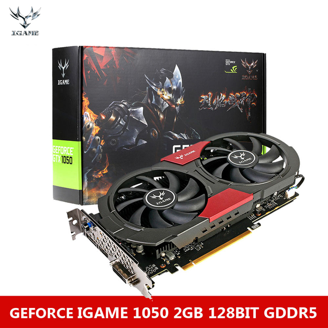Colorful NVIDIA GeForce GTX iGame 1050 GPU 2GB 128bit Gaming 2048M GDDR5 PCI-E X16 3.0 Video Graphics Card DVI+HDMI+DP Port