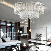 the new listing Modern living room ceiling crystal lamp lighting lamps fashion round 100% quality guarantee free delivery