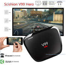 SCISHION V99 Hero TV Box BT 4.0 4 GB 32 GB Android 5.1 Smart Octa Core RK3368 4 K Mali-T6X Double Bande Wifi HDMI 2.0 media player