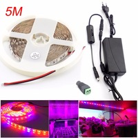 5M Led Plant Grow Strip Light DC 12V Waterproof 3 4 5 Red 1 Blue Flower