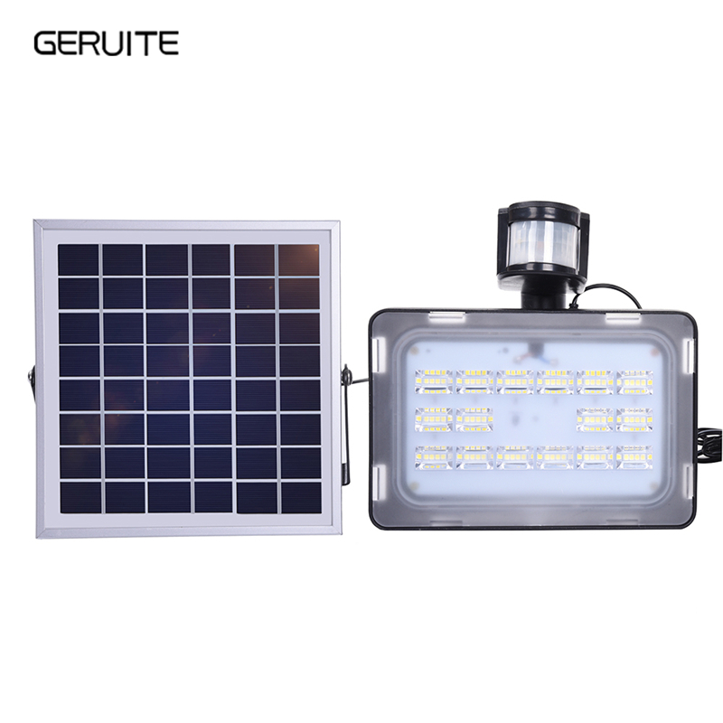 1PCS 10/20/30/50W 12V LED Flood Light PIR Solar Motion Sensor Induction Sense Solar Lamp IP65 SMD2835 Spotlight LED FloodLight