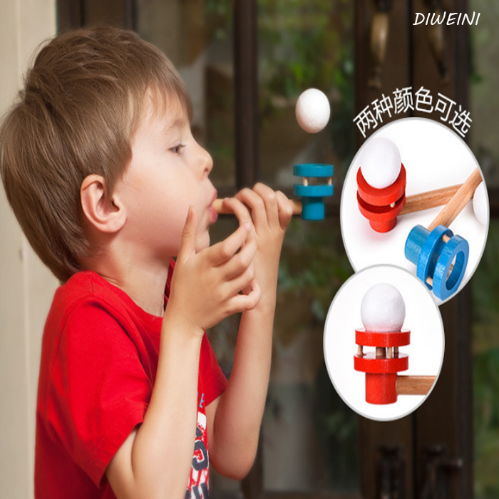 1Pcs Interesting Wooden Toys Schylling Blow Hobbies Outdoor Fun Sports Toy Ball Foam Floating Ball Parent