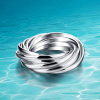 Women 925 Sterling Silver Ring 925 Genuine Solid Pure Silver Jewelry Solid Design Acceptable Wholesale