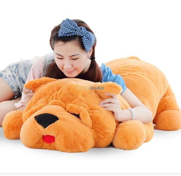 Fancytrader 120cm Super Lovely Jumbo plush Shar Pei Dog Toy,Large Dog Doll Sleeping Pillow Gift for Child Free Shipping FT50048 fancytrader 120cm super lovely jumbo plush shar pei dog toy large dog doll sleeping pillow gift for child free shipping ft50048