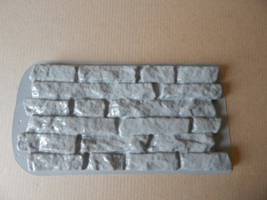 """Image 3 - Plastik Kalıpları ve Alçı duvar taşı çimento karo """"Kırlangıç"""" Dekoratif duvar Plastik kalıp EN IYI FIYAT"""