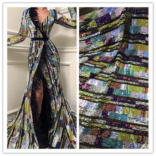 Najwyższej jakości JIANXI.C 1515 francuski koronki tkaniny afryki koronki tkanina z cekinami tiul haftowany z siatką tkaniny w Koronka od Dom i ogród na  Grupa 1