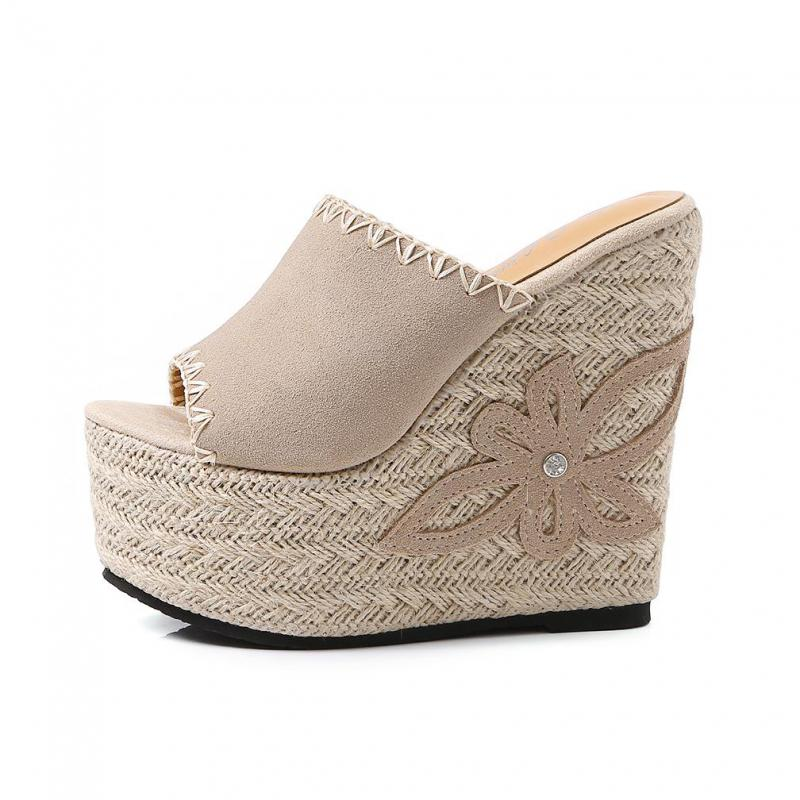 Super High Heel Ladies 15cm Wedges Sandals Women Outdoors Summer Peep Toe Fashion Beach Shoes