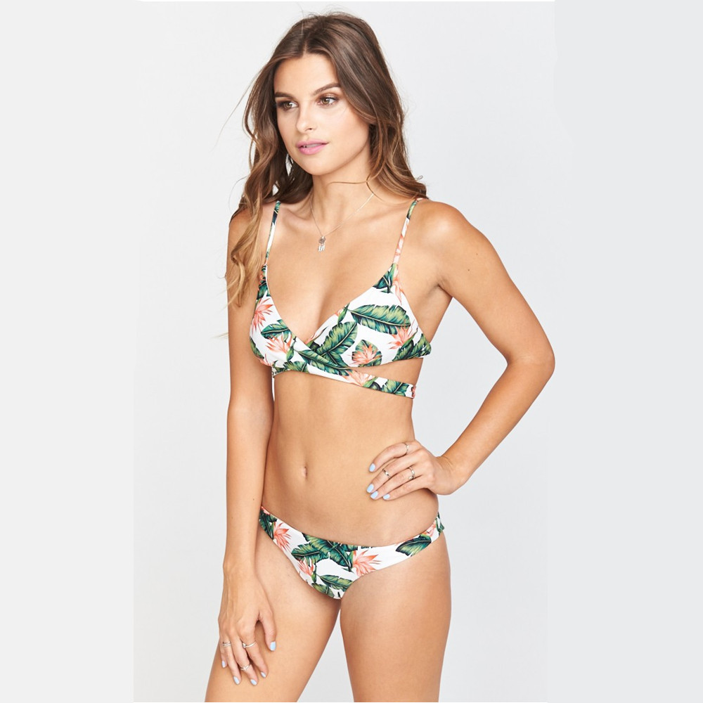 Tireless Qiang Yi 2018 Summer Style Push Up Sexy Bikini Set Cross Strap Bandage Swimsuit Women Swimwear Bathing Suit Print Biquini Beach Curing Cough And Facilitating Expectoration And Relieving Hoarseness Bikinis Set Sports & Entertainment
