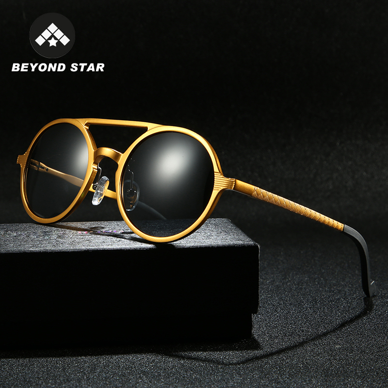 Alloy Retro Round Mens Womens Polarized Sunglasses Polarised Sun glasses