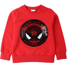 Spiderman Pattern Sweatshirts for Children Long Sleeve Tops boys T-shirt Girls Pullover Blouse Kids Clothes Spring Autumn 2018(China)