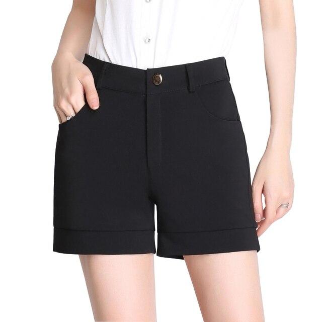 black work shorts womens