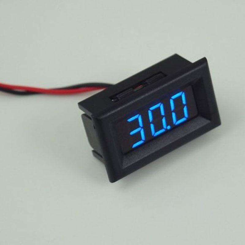 Digital Voltmeter Two Wires LED Display Blue DC2.5-30V Digital Panel Voltage Meter Voltage Detector Monitor yb27a led ac 60 300v digital voltmeter home use voltage display w 2 wires