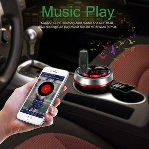 Image 2 - Dual USB Car Charger Cup Sigarettenaansteker Lading HUB 12 24V met Bluetooth Fm zender Ondersteuning U schijf Lezen