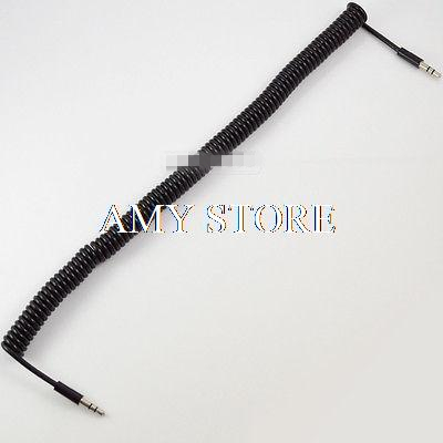 1pcs or 2pcs Stretch 10ft 3M 1.5M 1M 3.5mm Male plug to male Plug Stereo Audio Extension Coiled Spiral Cable Phone Car Earphone