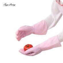 Хозяйственные Перчатки 1 Pairs Водонепроницаемый Резиновые Латексные Перчатки Для Очистки Блюдо Прачечная Дому Нескользящей Перчатки Оптом ЯН 5-Й