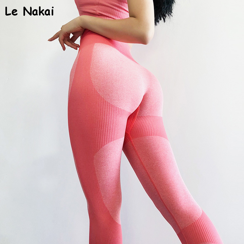 High Waist Push Up Seamless Leggings Sport Women Fitness Gym Legging Scrunch Butt Yoga Pants Athletic Vital Seamless Booty Pants