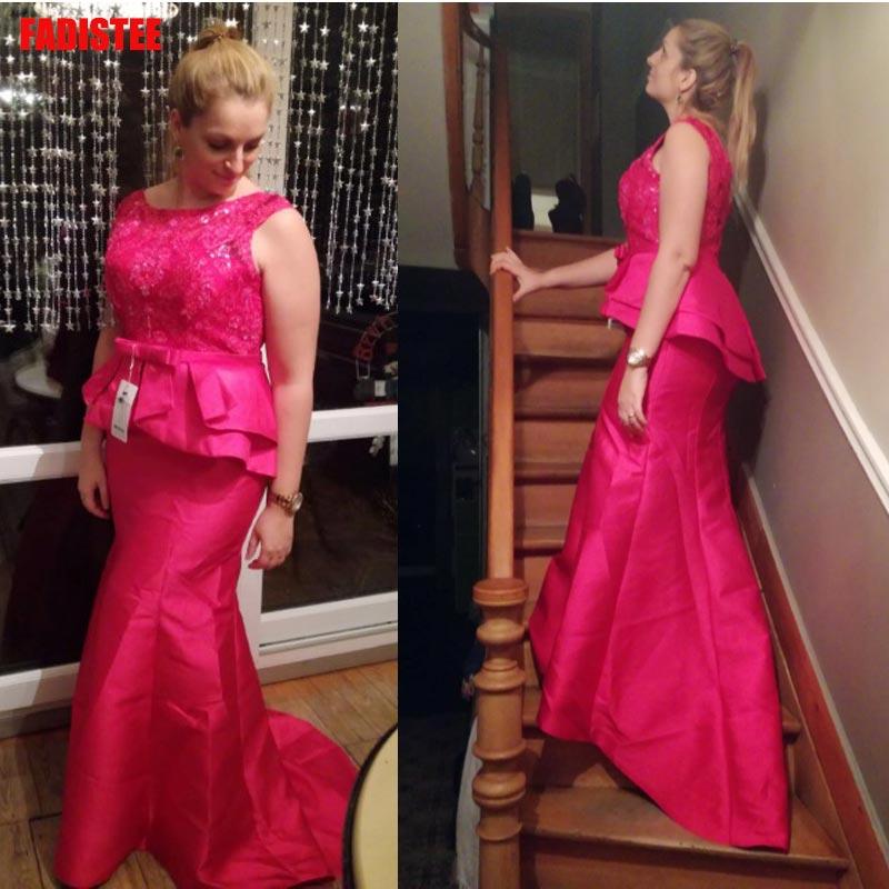 FADISTEE nouveauté élégante longue robe de bal robes de soirée robe formelle sans manches mère de la mariée grande taille sirène verte