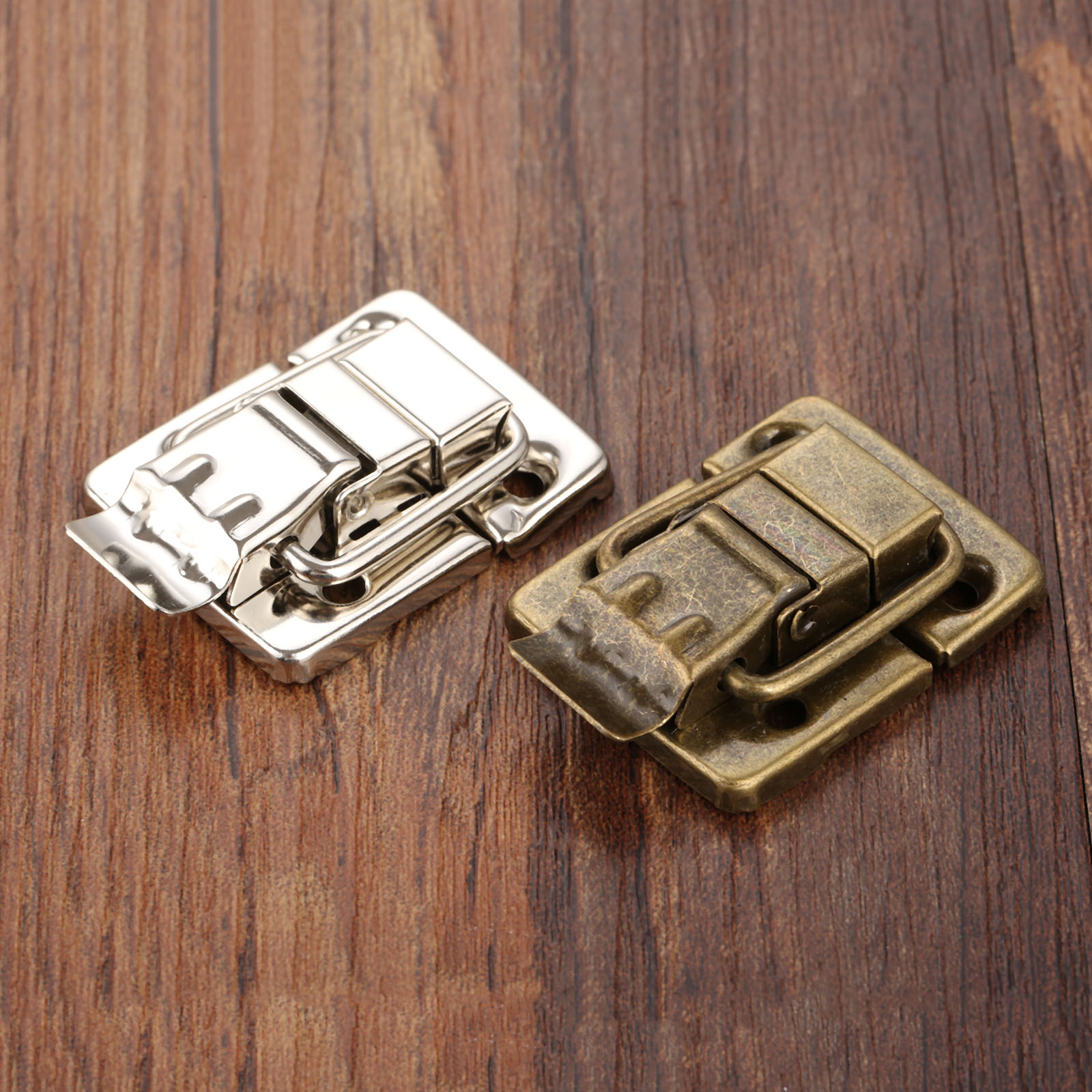 1Pc Jewelry Wood Box Toggle Latch Hasp Drawer Latches Decorative Suitcases Buckle Clasp Furniture Hardware 30*36mm