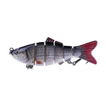 4c56bf35925e 1 piezas 10 cm 18g bajo Stirper cebo de pesca señuelo Swimbait  Multi-articulación Artificial Bionic Panfish Crankbait agua salada de agua  dulce