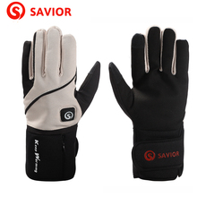 SAVIOR S 16 lithium battery electric heating Winter font b Gloves b font for skiing riding