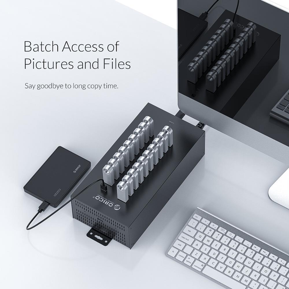 ORICO IH20P USB HUB 20 USB Ports Industrial USB2.0 HUB USB Splitter with 2 Models Data transmission or USB Charger