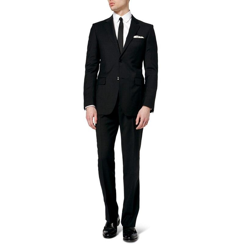 New Slim Fit Groom Tuxedos Black Best Suit Notch Lapel Groomsman Men Wedding Bridegroom Men's Sets (Jacket+Pants+Tie)