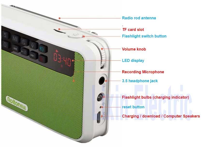 Health Subwoofer latarka FM 33