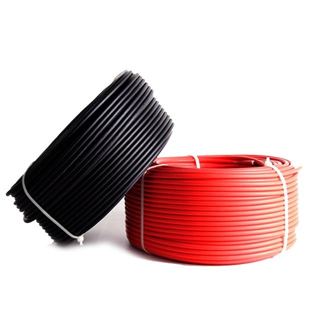 Солнечный PV кабель 10 м 4 мм2 6 мм2 красный/черный для панели солнечных батарей модуль домашняя станция солнечные наборы DIY системы 10AWG или 12AWG