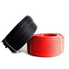 ソーラーpvケーブル10メートル4 mm2 6 mm2赤/黒のためのソーラーパネルモジュールホームステーションソーラーキットdiyシステム10AWGまたは12AWG