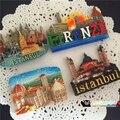 Paisaje Estambul Florencia souvenir accesorios de decoración del hogar imanes de nevera imán de nevera recuerdo decoración del hogar accesorios