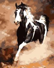 No frame Running Horse DIY Painting By Numbers Abstract Canvas Painting