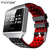 FUYIJIA شاشة كبيرة ساعة ذكية للرجال الذكور Relogio ip67water Smartwatch معدل ضربات القلب ضغط الدم الساعات الرياضية أندرويد IOS