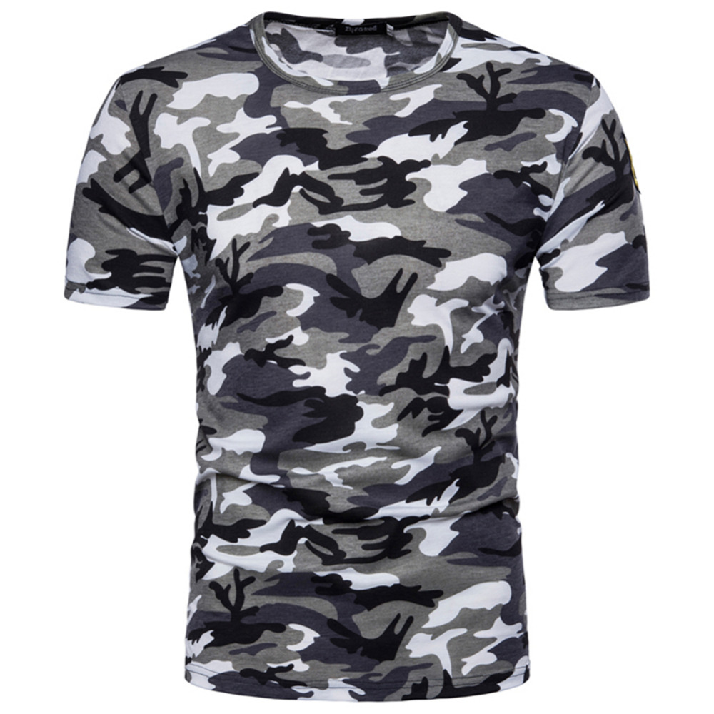 2018 Men Base Layer Camouflage T Shirt Fitness Tights Quick Dry Camo Tshirt Crossfit Compression T-Shirt Brand Clothing Tops
