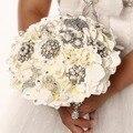 Высокое качество 2016 роскошный индивидуальные свадебное YIYI букет с перл из бисера брошь свадьба красочные невеста букет WD039