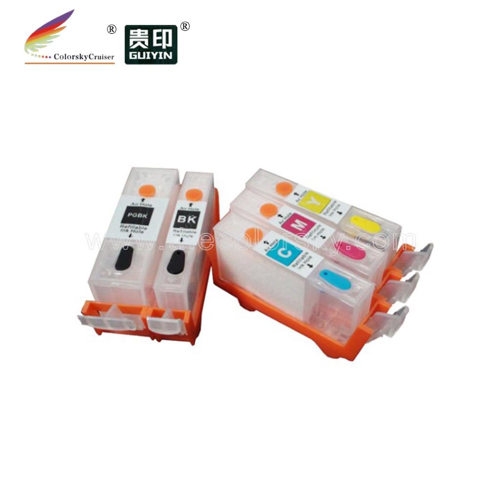 (RCC550-5) многоразовый чернильный картридж для Canon PGI-550, PGI550, CLI551, PGI 550, CLI 551, IP 7250, MG 5450, 5550, 6450, MX, 925, 725