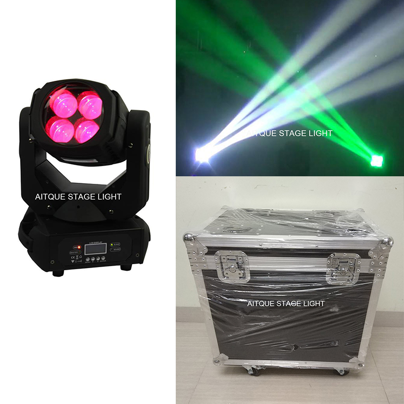 (2light+Flight Case)Lights project beam 4x25 led moving head beam moving head 4 25 flight case led supber beam цена 2017