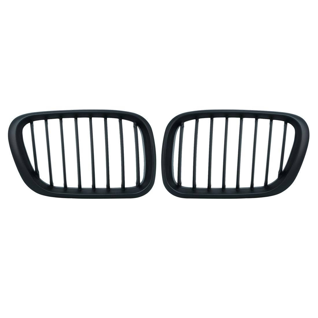 1 paire de Grilles à lamelles avant noir brillant E53 veuillez griller pour BMW E53 X5 1998-2003 accessoire de voiture