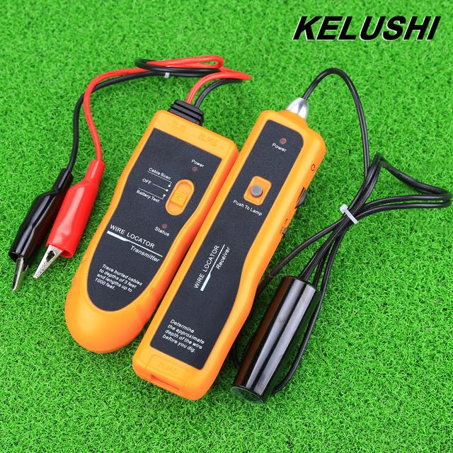 KELUSHI Envío Gratis! NF-816 Subterráneo del Alambre Localizador de cables Con el LED para el alambre eléctrico, gotas telefónicas, CABLE coaxial CATV
