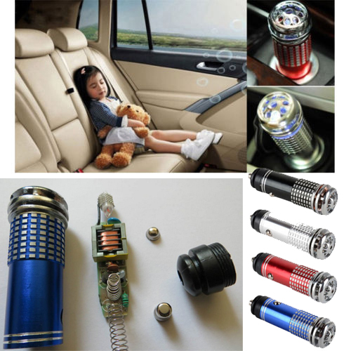 12v mini auto car fresh air ionic purifier oxygen bar ozone ionizer cleaner in air freshener. Black Bedroom Furniture Sets. Home Design Ideas