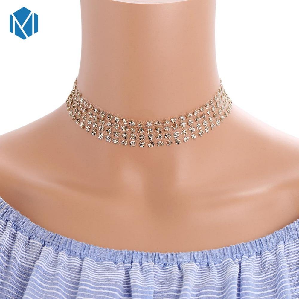 2018 Neue Ankunft Mode Halsketten Frauen Silber Glänzende Pailletten Halskette Mädchen Schlüsselbein Kette Schmuck Zubehör Produkte HeißEr Verkauf