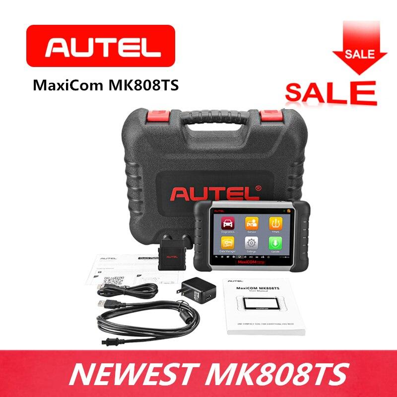 AUTEL MaxiCom MK808TS Diagnostic Scanner OBD2 Oil Reset/EPB/BMS/SAS/DPF/IMMO TPMS for DIYer Small Repair Stores Code Reader цены