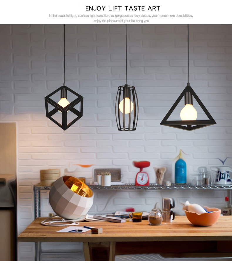 Black Iron Pendant Lights
