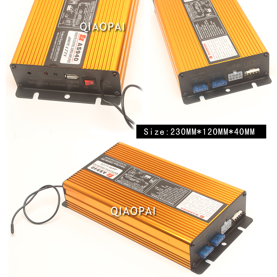 Police Siren Sound 12v 400w Megaphone Multi Tone Claxon Horn Super Multitone 18 16 17 23 24