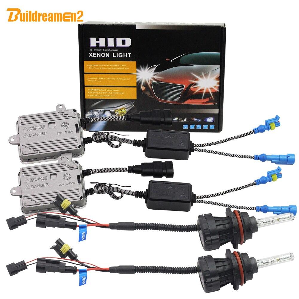 Buildreamen2 55 W 9007 faisceau Hi/Lo Kit xénon HID Bi ampoule xénon + Ballast + fil de harnais 3000 K-12000 K 12 V phare de voiture
